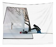 Snow Blower Tapestry