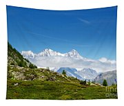 Snow-capped Mountain And Cloud Tapestry