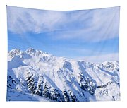 Snow Covered Alps, Schonjoch, Tirol Tapestry
