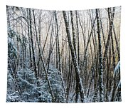 Snow Falls On The Alders  Astoria Tapestry