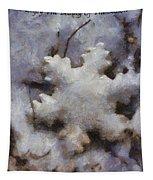 Snow Flake Enjoy The Beauty Photo Art Tapestry