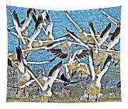Snow Geese Panic Tapestry