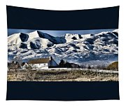 Snow In The Mountains Tapestry