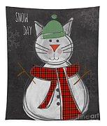 Snow Kitten Tapestry