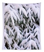 Snow Laden Branches Tapestry