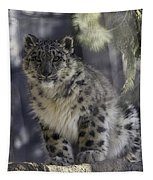 Snow Leopard 1 Tapestry