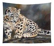 Snow Leopard Cub Tapestry