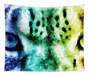 Snow Leopard Eyes 2 Tapestry