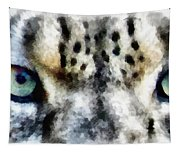 Snow Leopard Eyes Tapestry