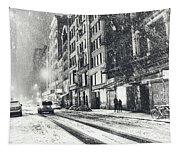 Snow - New York City - Winter Night Tapestry