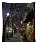Snow On G Street 3 - Old Town Grants Pass Tapestry