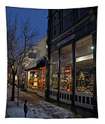Snow On G Street - Old Town Grants Pass Tapestry