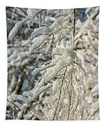 Snow On Ice Tapestry