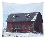 Snow On Roof Tapestry