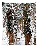 Snow On Tress 2 Tapestry
