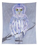 Snow Owl Tapestry