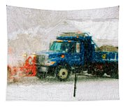Snow Plow Painterly Tapestry