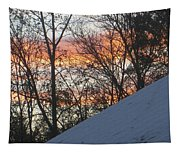 Snow Sunset Tapestry