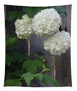 Snowball Flowers Tapestry