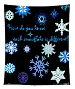 Snowflakes 2 Tapestry