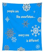 Snowflakes 5 Tapestry