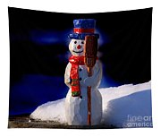 Snowman By George Wood Tapestry