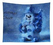 Snowman Christmas Cheer Photo Art 01 Tapestry