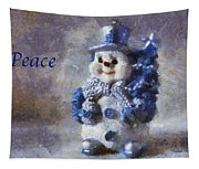 Snowman Peace Photo Art 01 Tapestry