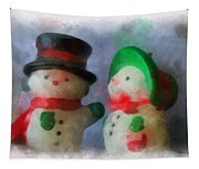 Snowman Photo Art 09 Tapestry