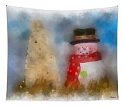 Snowman Photo Art 13 Tapestry