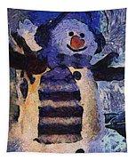 Snowman Photo Art 44 Tapestry