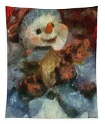 Snowman Photo Art 47 Tapestry