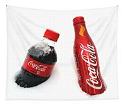 Snowy Coca - Cola Tapestry