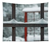 Snowy Lines Tapestry