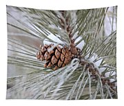 Snowy Pine Tapestry