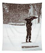 Snowy Walk Tapestry