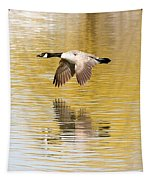 Soaring Over The River Tapestry