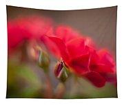 Soaring Red Rosebud Tapestry