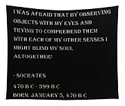 Socrates Quote In Negative Tapestry