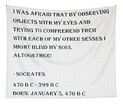 Socrates Quote Tapestry