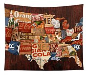 Soda Pop America Tapestry
