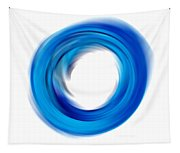 Soft Blue Enso - Abstract Art By Sharon Cummings Tapestry