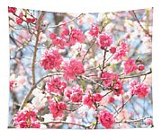 Soft Colors Of Spring Tapestry