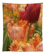 Soft Tulips Tapestry
