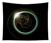 Solar Eclipse With Fractal Tapestry