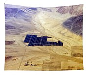 Solar Panels Aerial View Tapestry