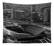 Soldier Field Chicago Sports 05 Black And White Tapestry