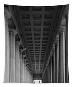Soldier Field Colonnade Chicago B W B W Tapestry