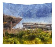 Soldier Field West Side Photo Art 02 Tapestry