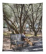 Solitaire Reading Tapestry